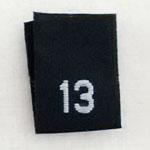 Size 13 Size Tags- Black