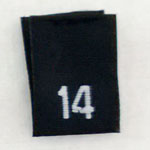Size 14 Size Tags- Black