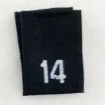 Size 14 Size Tags- Black
