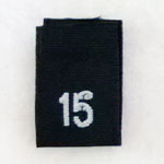 Size 15 Size Tags- Black
