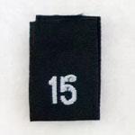 Size 15 Size Tags- Black