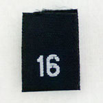 Size 16 Size Tags- Black