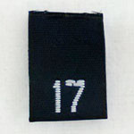 Size 17 Size Tags- Black