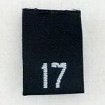 Size 17 Size Tags- Black