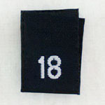 Size 18 Size Tags- Black