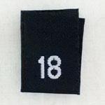 Size 18 Size Tags- Black