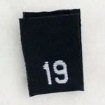 Size 19 Size Tags- Black