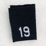 Size 19 Size Tags- Black