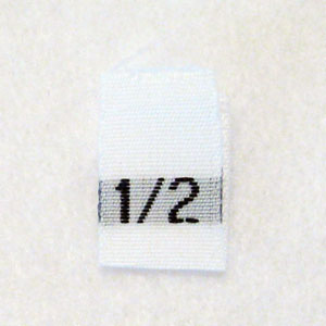 Size 1 / 2 Size Tags