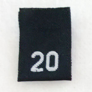 Size 20 Size Tags- Black