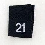 Size 21 Size Tags- Black