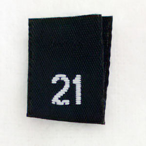 Size 21 Size Tags- Black