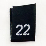Size 22 Size Tags- Black