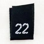 Size 22 Size Tags- Black