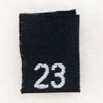 Size 23 Size Tags- Black