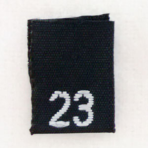Size 23 Size Tags- Black