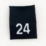 Size 24 Size Tags- Black