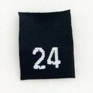 Size 24 Size Tags- Black