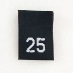 Size 25 Size Tags- Black