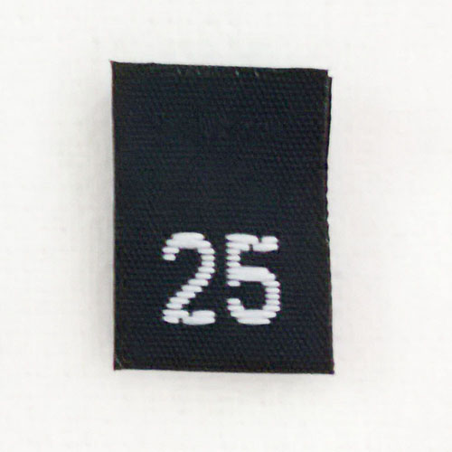 Size 25 Size Tags- Black