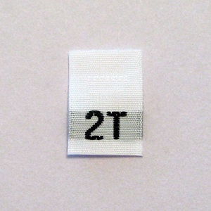 2T Size Tags