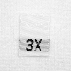 3X Size Tags