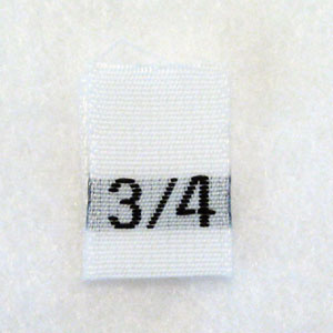 Size 3 / 4 Size Tags