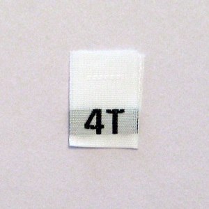 4T Size Tags