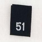 Size 51 Size Tags- Black