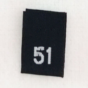 Size 51 Size Tags- Black