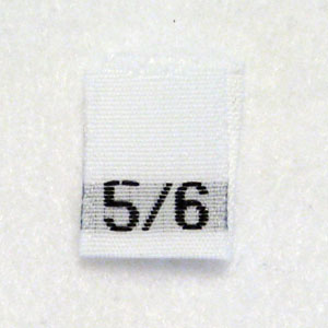 Size 5 / 6 Size Tags