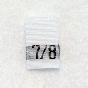 Size 7 / 8 Size Tags