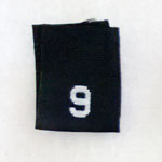 Size 9 Size Tags- Black