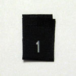 Size 1 Size Tags - Black