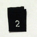 Size 2 Size Tags- Black