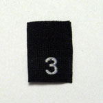 Size 3 Size Tags- Black