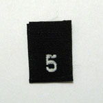 Size 5 Size Tags- Black