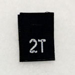 Size 2T Size Tag - Black