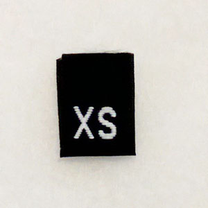 Extra Small Size Tags-Black