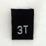 Size 3T Size Tag - Black