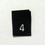 Size 4 Size Tags- Black