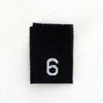 Size 6 Size Tags- Black