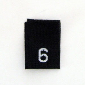 Size 6 Size Tags- Black