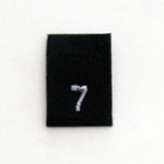 Size 7 Size Tags- Black