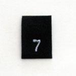 Size 7 Size Tags- Black