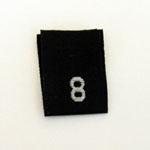 Size 8 Size Tags- Black