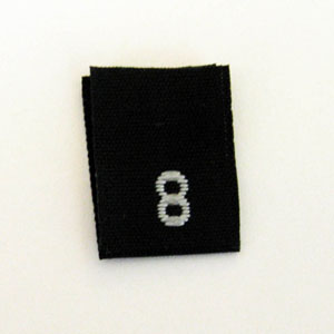 Size 8 Size Tags- Black