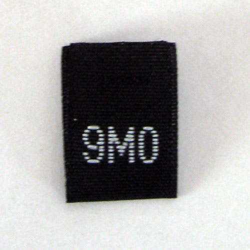 9 Months Size Tags - Black