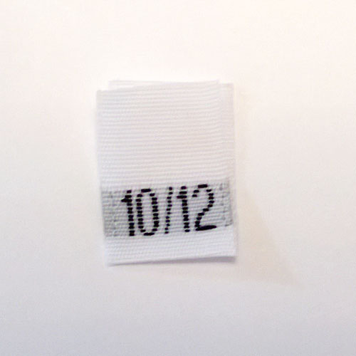 Size 10 / 12 Size Tags