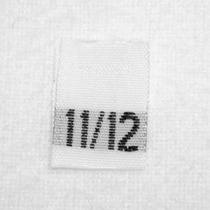 Size 11 / 12 Size Tags